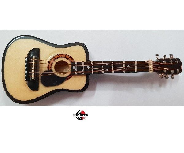 ALBERTS GIFTS 39224 Steel String Acoustic Guitar Сувенир значок с магнитом