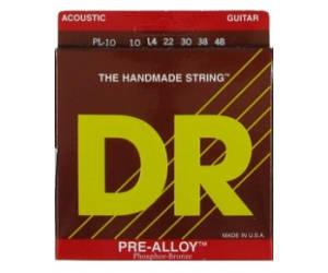 DR PRE ALLOY Phosphor bronze PL10 Струны для акустической гитары .010-.048