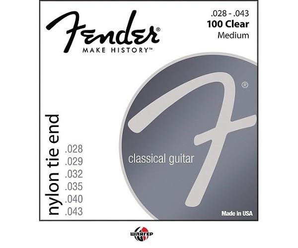 FENDER100 Clear Medium Tension Струны для классической гитары