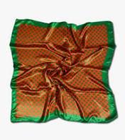 Платок в горошек зеленый