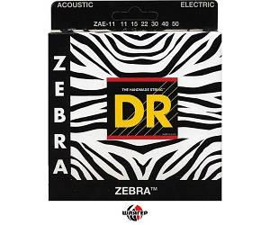 DR ZEBRA ZAE11 Струны для электроакустической гитары 11-50