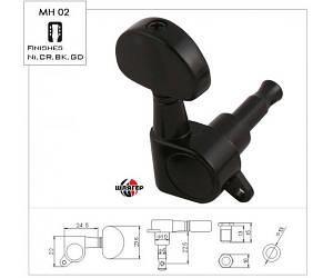 METALLOR MH02 BK Колья для электрогитары 6 in line, черные