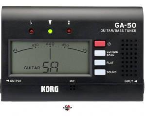 KORG GA50 BK Тюнер цифровой гитарно-басовый