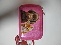 Подвійний пенал для дівчинки рожевого кольору, фото 1