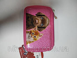 Подвійний пенал для дівчинки рожевого кольору