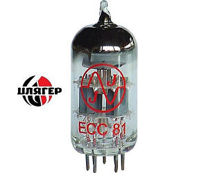 JJ ELECTRONIC ECC81 (12AT7) Лампа для комбоусилителя