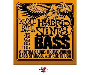 ERNIE BALL P02833 Hybrid Slinky Round Wound Струны для бас-гитары .045-.105