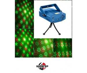 HOT TOP MINI4 Лазер мини двухцветный, красный 100mw + зеленый 30mw