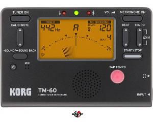 KORG TM60 BK Тюнер-метроном