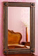 Код М-004.1. Зеркало в раме с резьбой из натурального дерева, фото 1