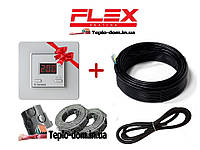 Тонкий кабель для теплого пола Flex 11м²- 13,2м²/ 1925Вт (110м) с Terneo SТ в подарок