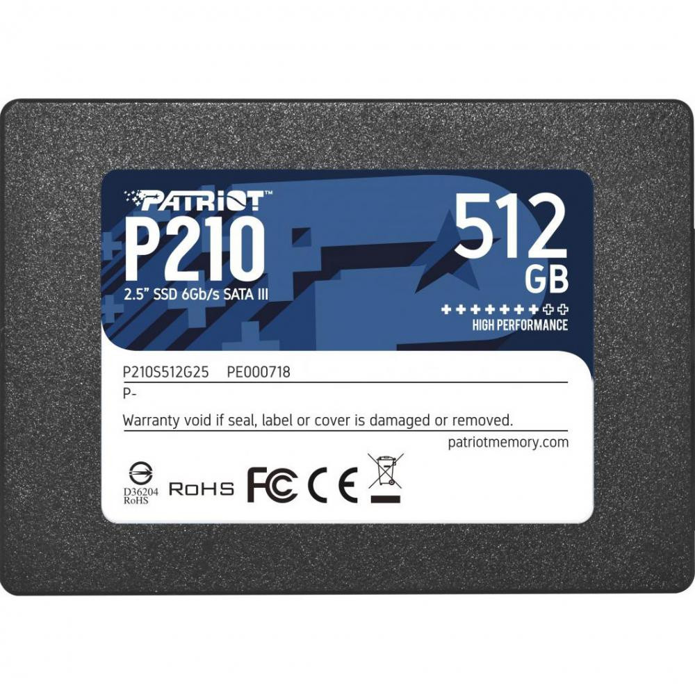SSD-диск Patriot Burst 512GB TLC 2.5''