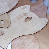 Палитра деревянная, перцевидная МОДЕРН, промасленная, 30х40см, ROSA, фото 2