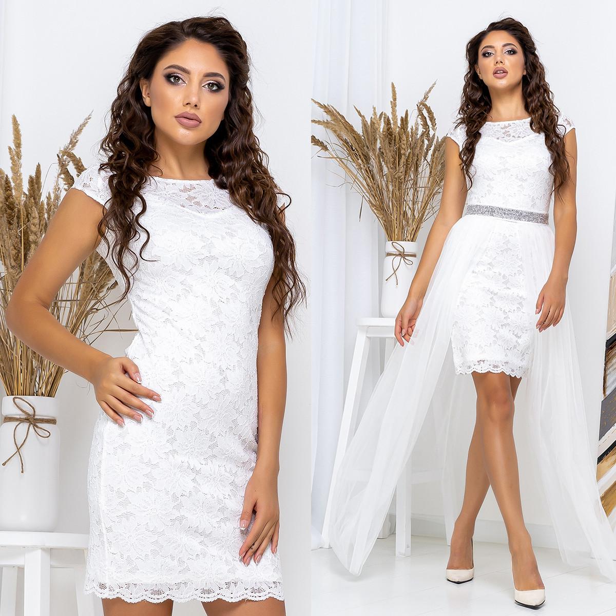 """Белое вечернее, свадебное платье трансформер """"Империя"""""""