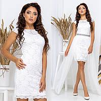 """Белое вечернее, свадебное платье трансформер """"Империя"""", фото 1"""