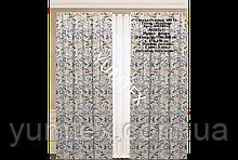 Комплект штор 2 шт из натуральной хлопковой испанской ткани с коралловыми и фиолетовыми цветами 400389v3