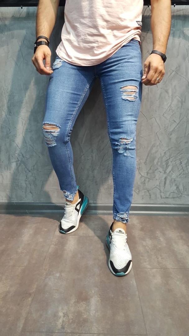 """Мужские джинсы без бренда """"Blue"""""""