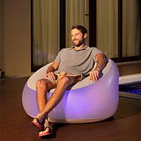 Надувное кресло Bestway 102 х 97 х 71 см с LED подсветкой (75086)