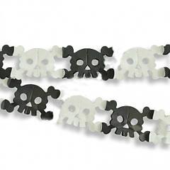 Гірлянда Хеллоуїн 3D Череп з кістками
