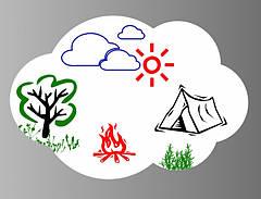 Магнітна дошка для маркера Хмара
