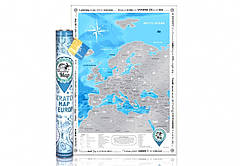 Скретч карта Discovery Maps Europe англійською мовою