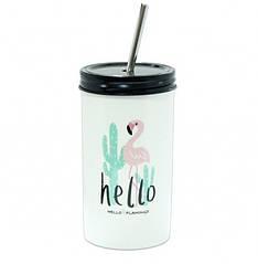 Склянку з трубочкою Flamingo