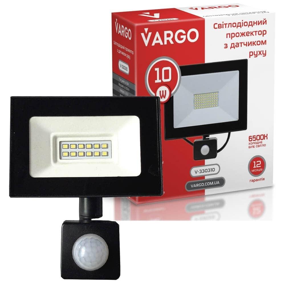 LED прожектор c датчиком движения VARGO 10W 220V 6500K
