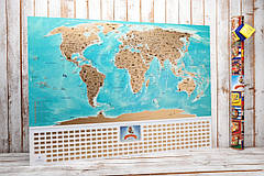 Скретч карта світу flags edition російською мовою