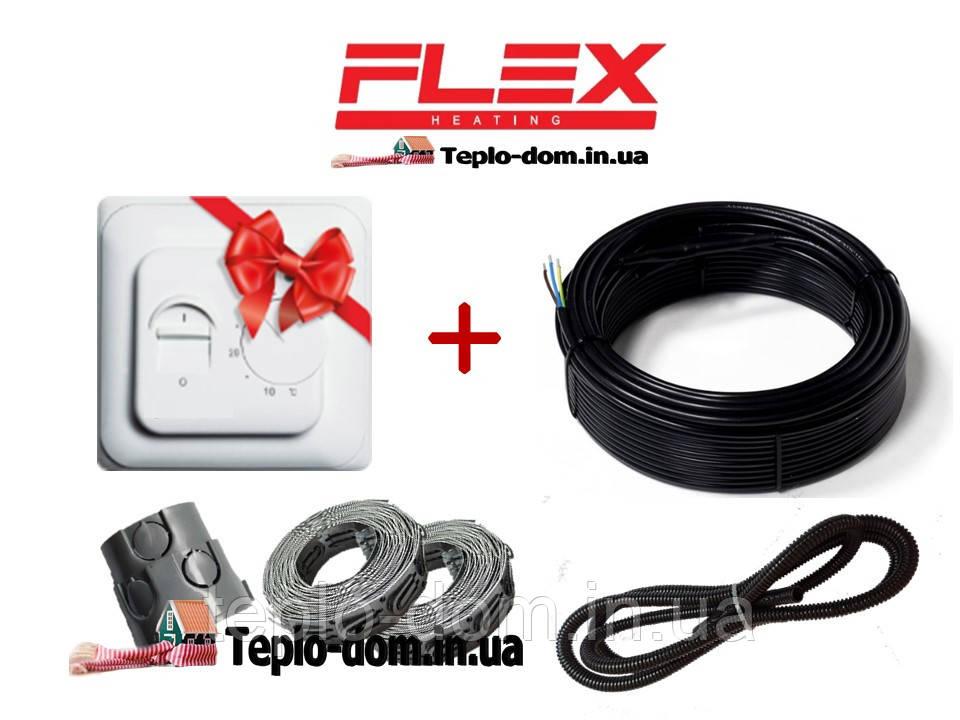 Кабель для обогрева пола Flex 6м²- 7,2м²/ 1050Вт (60м) c механическим RTC 70.26 в подарок