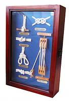 Ключница деревянная морской узел,шкаф для ключей
