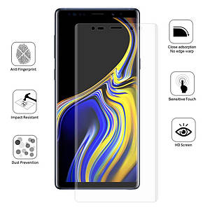 Защитная пленка для Samsung Note 8 гидрогелевая на весь экран пленка на телефон самсунг нот 8 прозрачная PRT