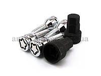 Болты секретные с внутренним ключом М14х1.5х32 конус, тройной никель/хром
