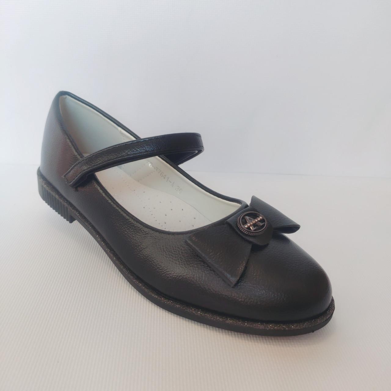 Школьные черные туфли от Том.М девочкам. Размер 32, 33, 34, 35, 36, 37