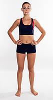 Спортивный женский купальник раздельный Shepa 043 (original) для бассейна с шортиками XL