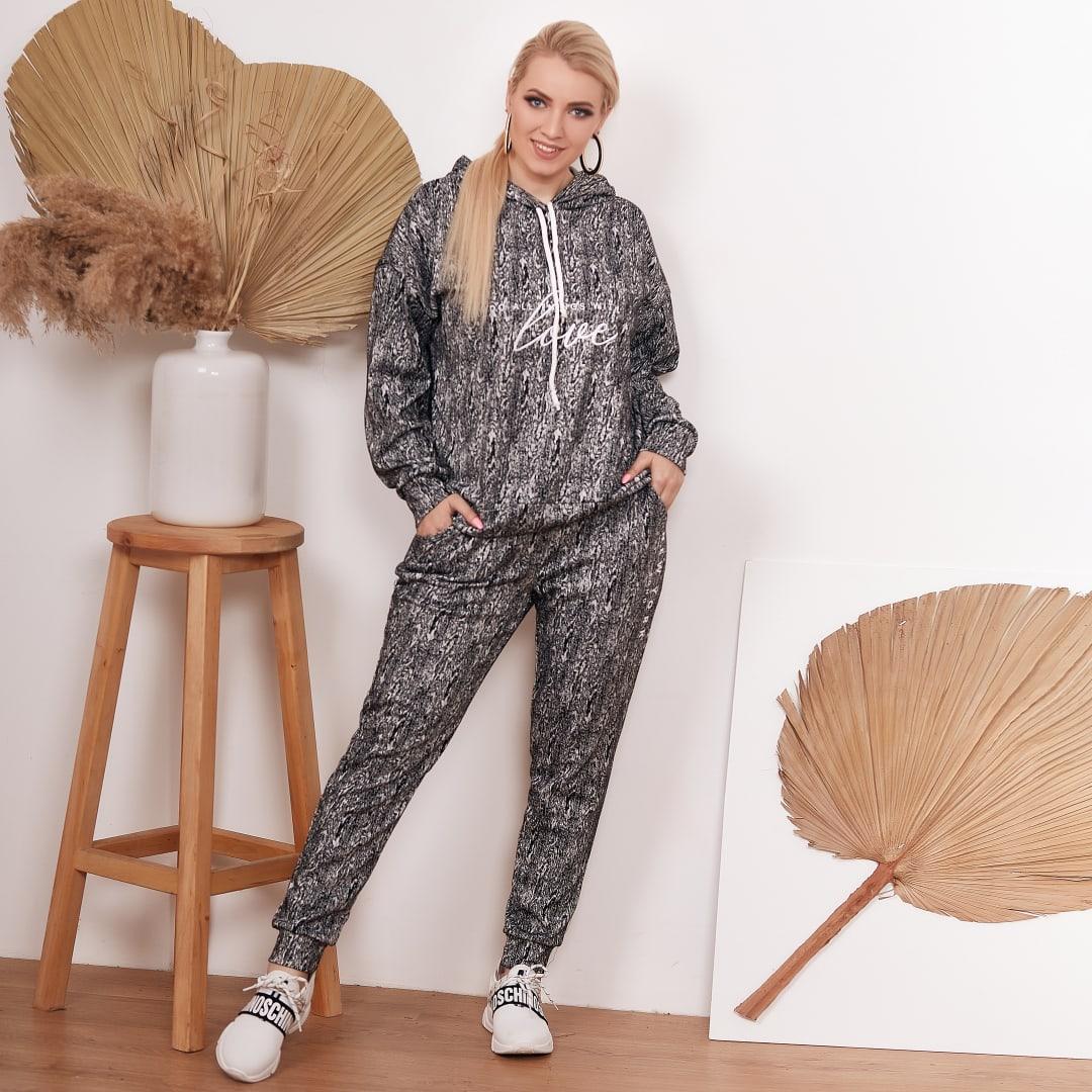 Спортивный костюм петля с накатом кофта и штаны размер: 48-50, 52-54, 56-58, 60-62