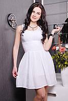 Очаровательное батистовое платье  IR Изабелла  цвета: темносиний | белый | коралл