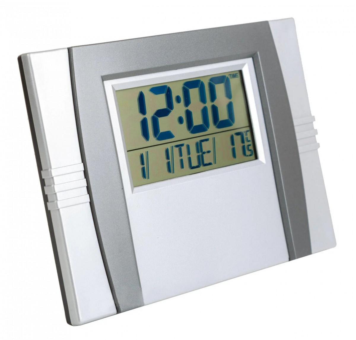 Настольные часы с будильником KК 6602 Серые