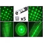 Лазерная указка Green Laser Pointer 1114 с 5 насадками, фото 3