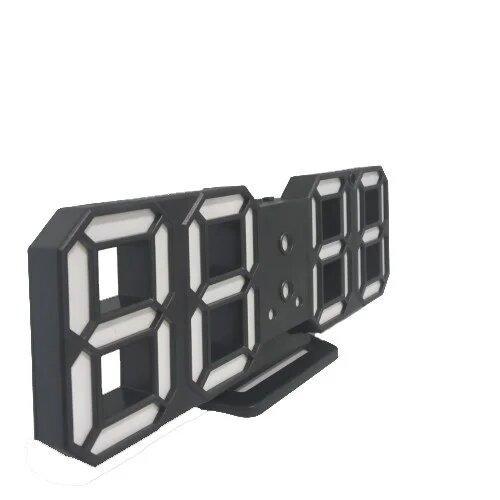 Электронные настольные Led часы с будильником1089 White
