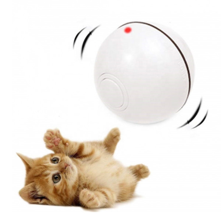 Игрушка для кошки USB smart мяч-шарик с LED подсветкой и таймером