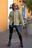 Женский стильный кардиган пиджак пальтовое букле размер батал: 48-50, 52-54, 56-58, 60-62, фото 2