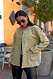 Женский стильный кардиган пиджак пальтовое букле размер батал: 48-50, 52-54, 56-58, 60-62, фото 4