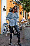 Женский стильный кардиган пиджак пальтовое букле размер батал: 48-50, 52-54, 56-58, 60-62, фото 5