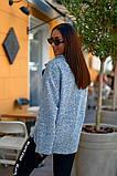 Женский стильный кардиган пиджак пальтовое букле размер батал: 48-50, 52-54, 56-58, 60-62, фото 6