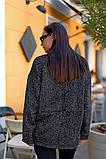 Женский стильный кардиган пиджак пальтовое букле размер батал: 48-50, 52-54, 56-58, 60-62, фото 7