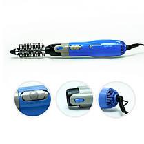 Фен-щетка Gemei GM 4833 10 в 1 1000W Black | Воздушный фен щетка стайлер для волос, фото 2