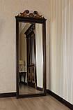 Код М-008.2. Зеркало напольное в деревянной раме с резьбой , фото 2