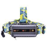 Супер яскравий Ліхтар налобний ЗУ micro USB, 2х18650/3xAA, індикація заряду, signal light, Box, фото 2