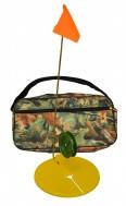 """Набор жерлиц оснащенных для зимней рыбалки 10 шт в сумке,Комплект жерлиц зимних на пласт. ножке """"Сумы"""""""