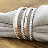 Серебряное кольцо с золотом 1183БС вставка белые фианиты вес 4.4 г размер 17.5, фото 5